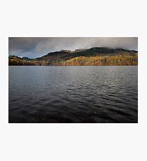 autumn colours, loch faskally Photographic Print