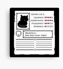RPG Video Game Cat Canvas Print