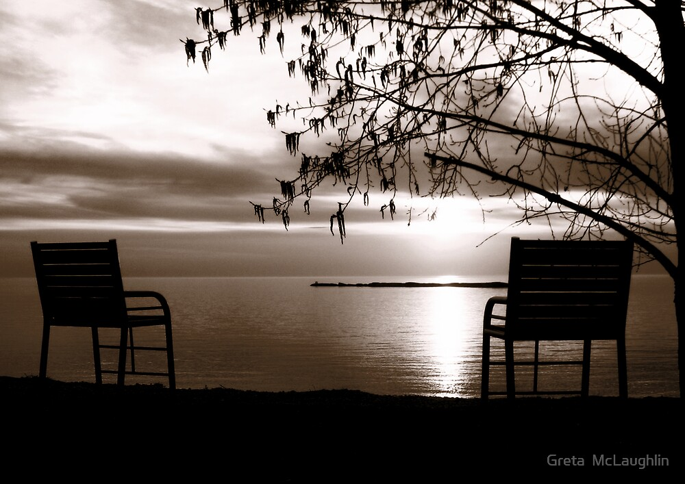 Sepia Sunset by Greta  McLaughlin