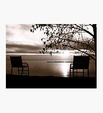 Sepia Sunset Photographic Print