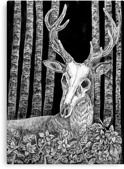 Death's Head Stag by Zandrawsthings