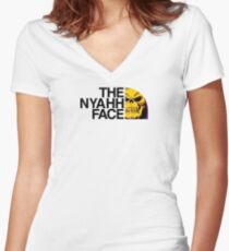 The NYAHH Face Women's Fitted V-Neck T-Shirt