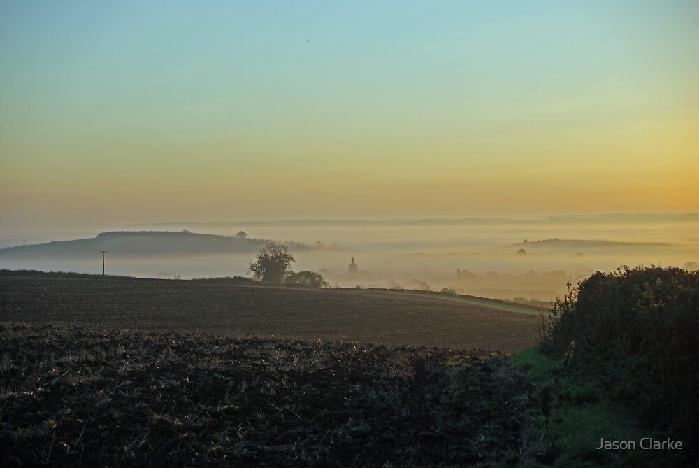 Bees hill at dawn by Jason Clarke
