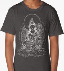 White Tara Classic Buddhist Image Long T-Shirt