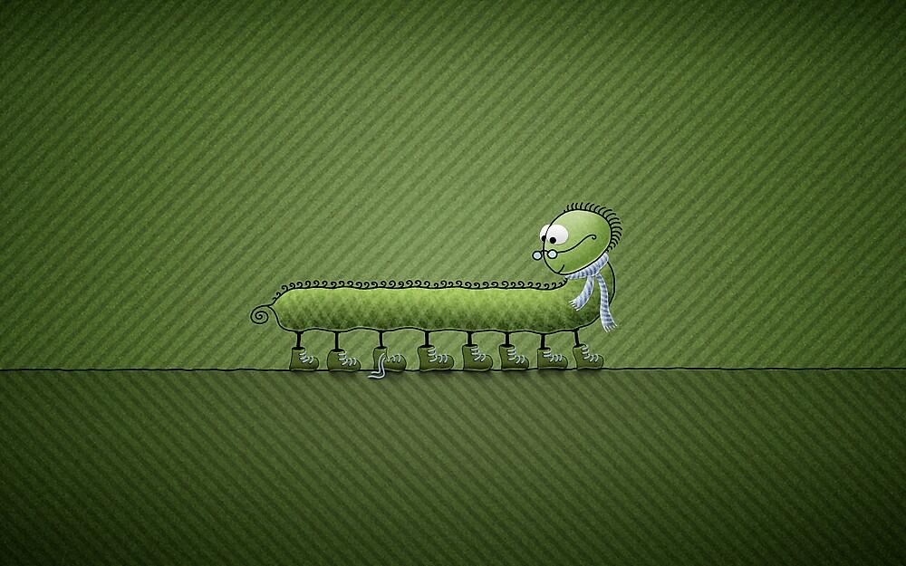 Little Problem (Green) by vladstudio