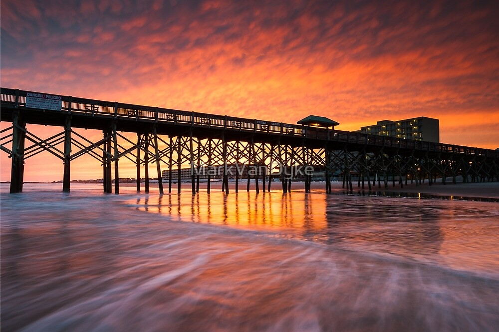 Charleston South Carolina Folly Beach Pier and Waterfront