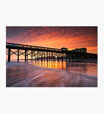 Charleston South Carolina Folly Beach Pier and Waterfront Development Photographic Print