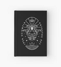 Knowledge - White/Skull Hardcover Journal