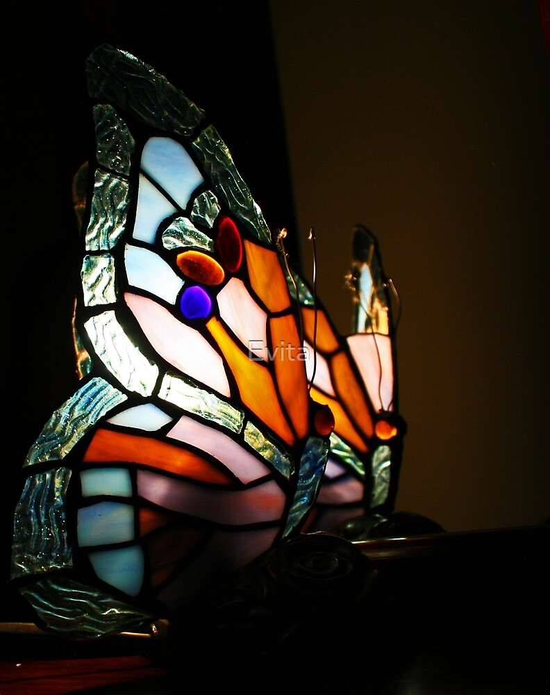 Blue Butterfly Lamp by Evita