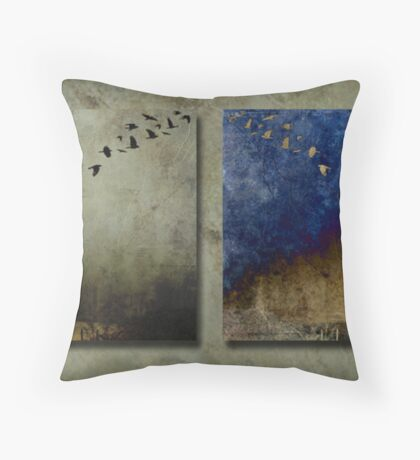 Crow tree 2 Throw Pillow