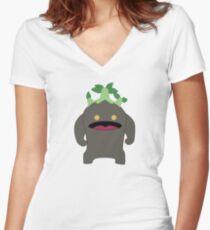 Goobbue Women's Fitted V-Neck T-Shirt