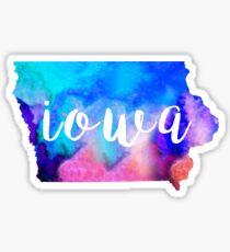 Iowa - Watercolor  Sticker