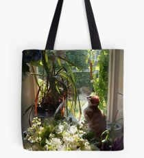 Nephret taking time to smell the flowers Tote Bag