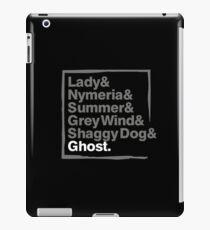 Stark Direwolves / Die Schattenwölfe des Haus Stark iPad Case/Skin