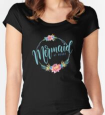 Mermaid at Heart Women's Fitted Scoop T-Shirt