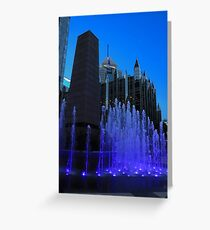 Fountain at PPG Greeting Card