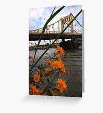 Flower Bridge Greeting Card