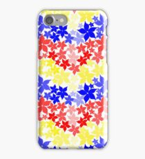 Primary 3D Floral on White iPhone Case/Skin