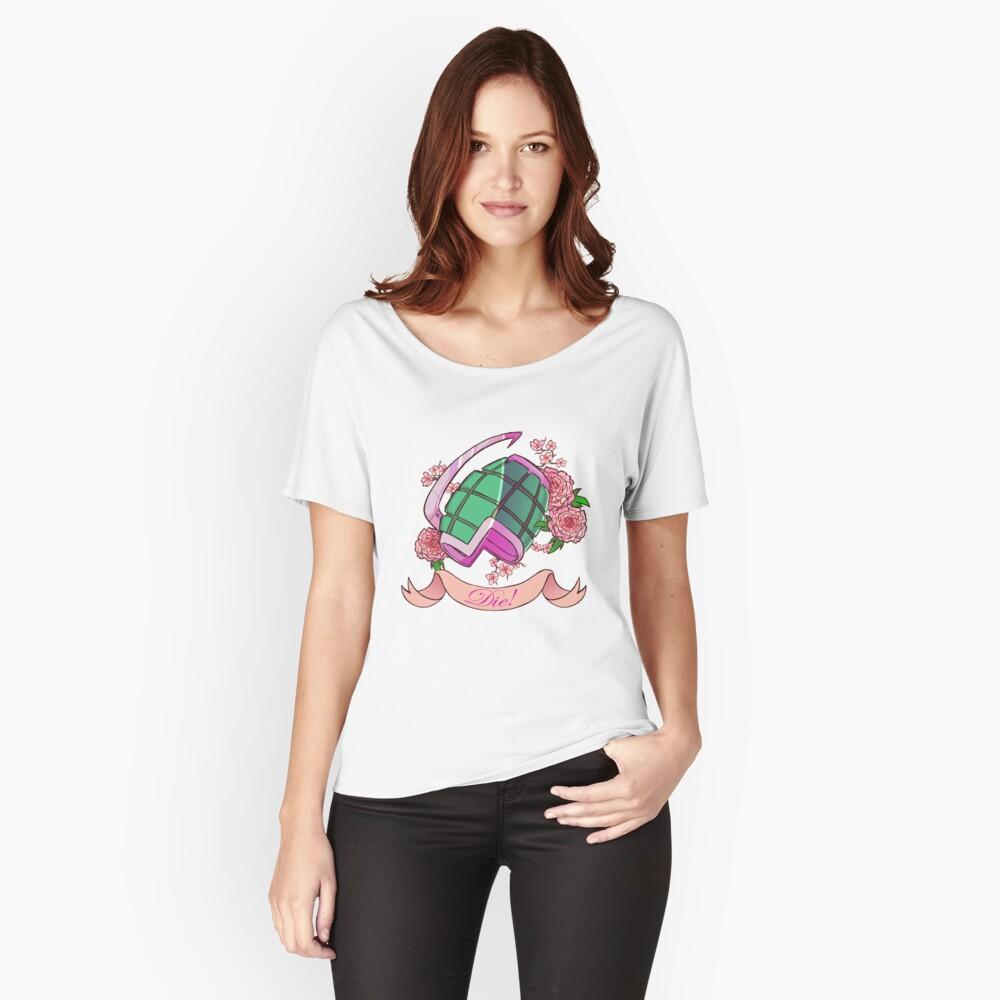 Weiche Explosionen Baggyfit T-Shirt für Frauen Vorne
