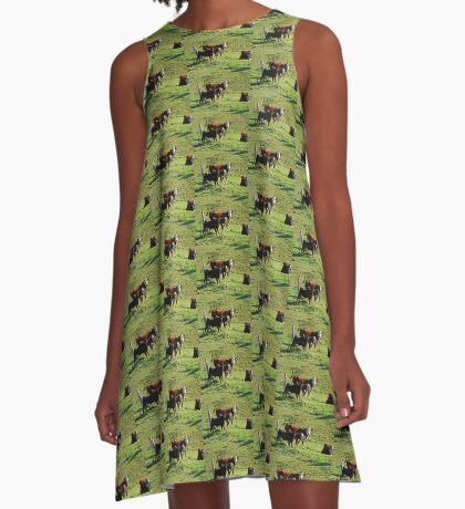 Dich anschauen! A-Linien Kleid