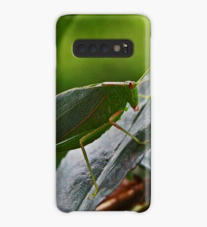 Gum Leaf Katydid (Torbia viridissima) Hülle & Klebefolie für Samsung Galaxy