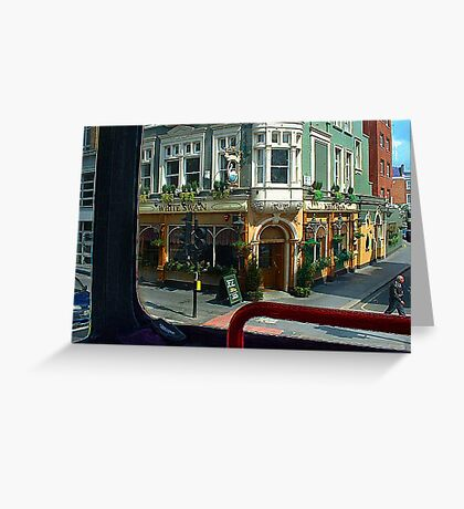 The White Swan London Greeting Card
