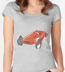 The Old Red Race Car Women's Fitted Scoop T-Shirt