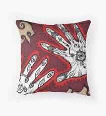 Graceful Hands Throw Pillow