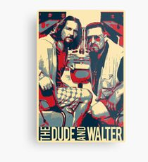 The Big Lebowski Revisited - The Dude and Walter Metal Print