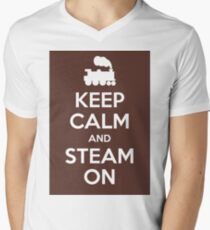 Keep calm and steam on Men's V-Neck T-Shirt