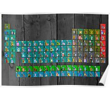 License Plate Art Recycled Periodic Table Of The Elements By Design Turnpike Poster