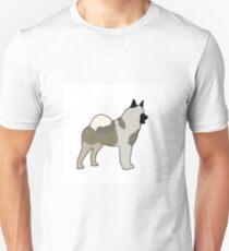 norwegian elkhound color silhouette T-Shirt