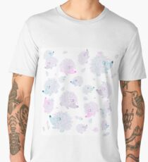 Hedgehogs Creative Art with White Background Men's Premium T-Shirt