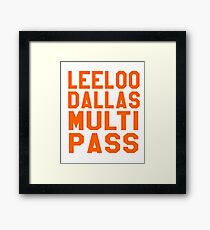 The Fifth Element - Leeloo Dallas Multi Pass Framed Print