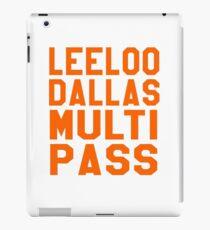 The Fifth Element - Leeloo Dallas Multi Pass iPad Case/Skin