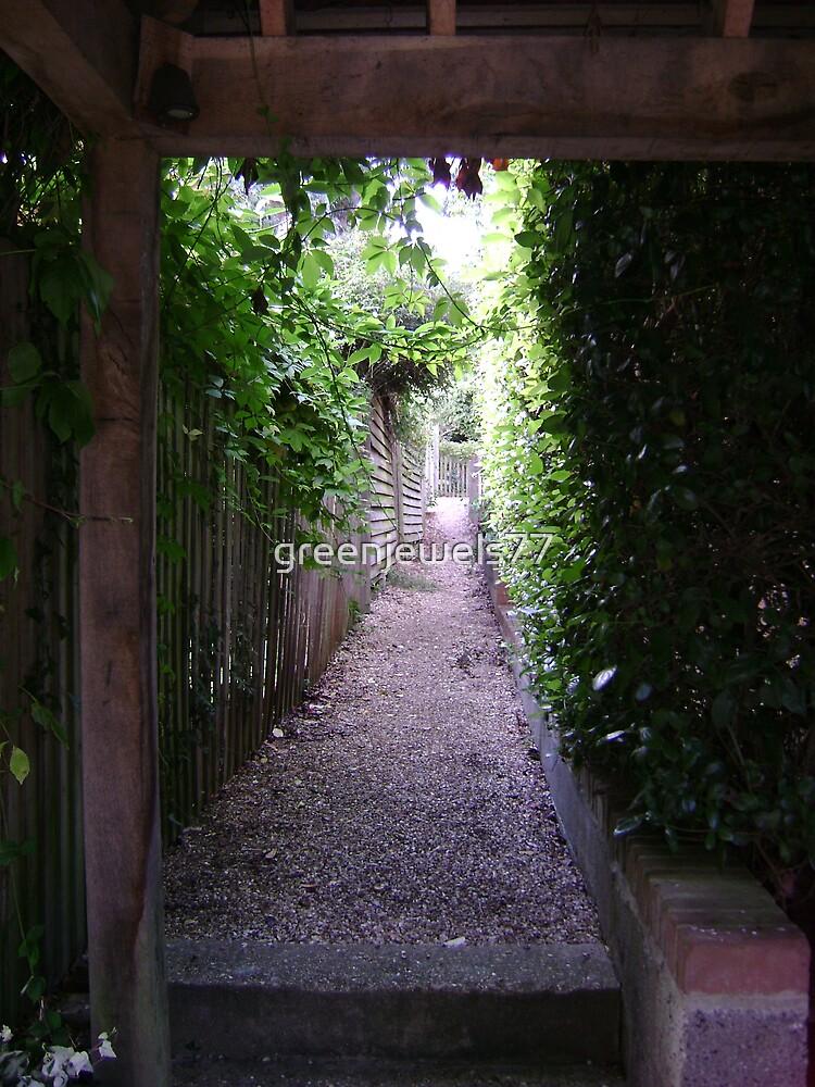 green back alleyway by greenjewels77