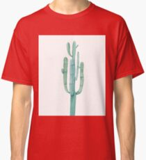 Pretty Cactus White and Green Desert Cacti Illustration Classic T-Shirt