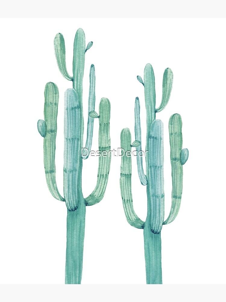 Modischer Kaktus-grüner und weißer Wüsten-Kaktus-Entwurf von DesertDecor