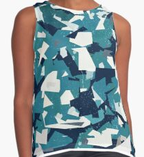 Abstract Vector Blue Military Camouflage Background Contrast Tank
