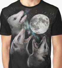 3 Opossum Moon Graphic T-Shirt