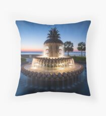Charleston South Carolina Pineapple Fountain Scenic  Throw Pillow
