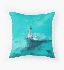 Alligator Reef Lighthouse - Islamorada, FL Throw Pillow
