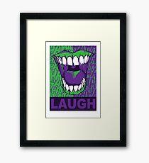 LAUGH purple Framed Print