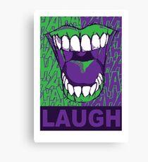 LAUGH purple Canvas Print