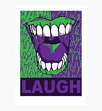 LAUGH purple Photographic Print