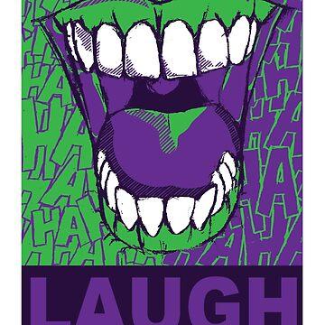 LAUGH purple by SquareDog