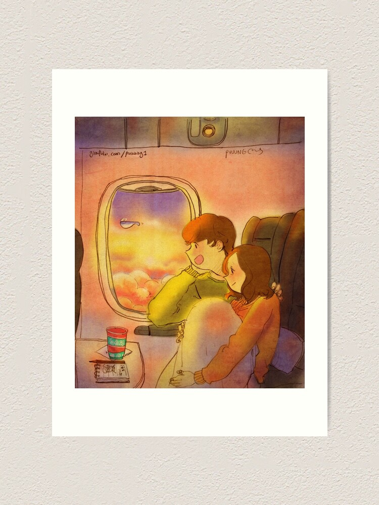 Alternate view of In the plane Art Print