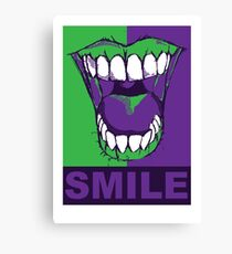 SMILE purple Canvas Print