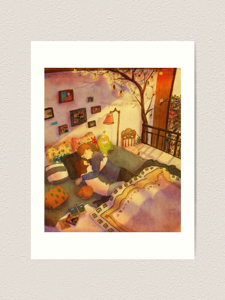 Alternate view of Afternoon nap Art Print