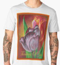 Thinking Of You - Two Tulips Men's Premium T-Shirt